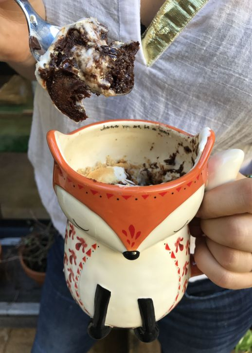How to make S'mores Cake in a Mug