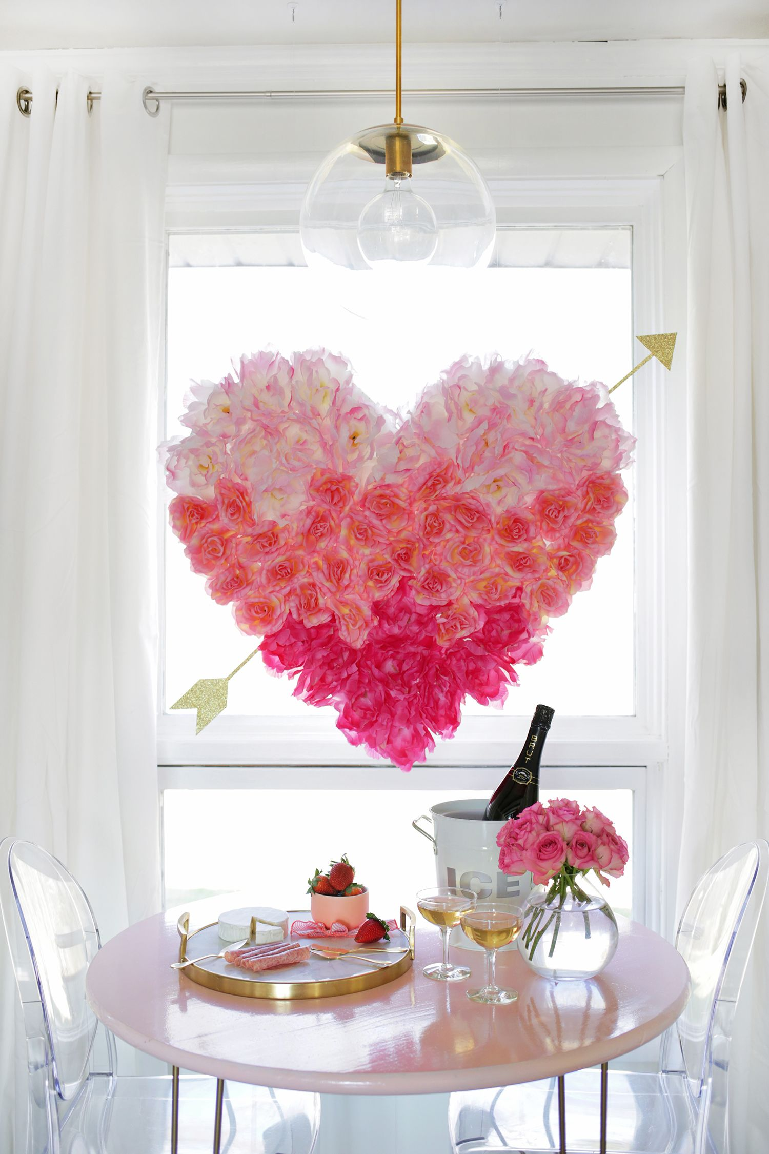 DIY Hanging Flower Heart