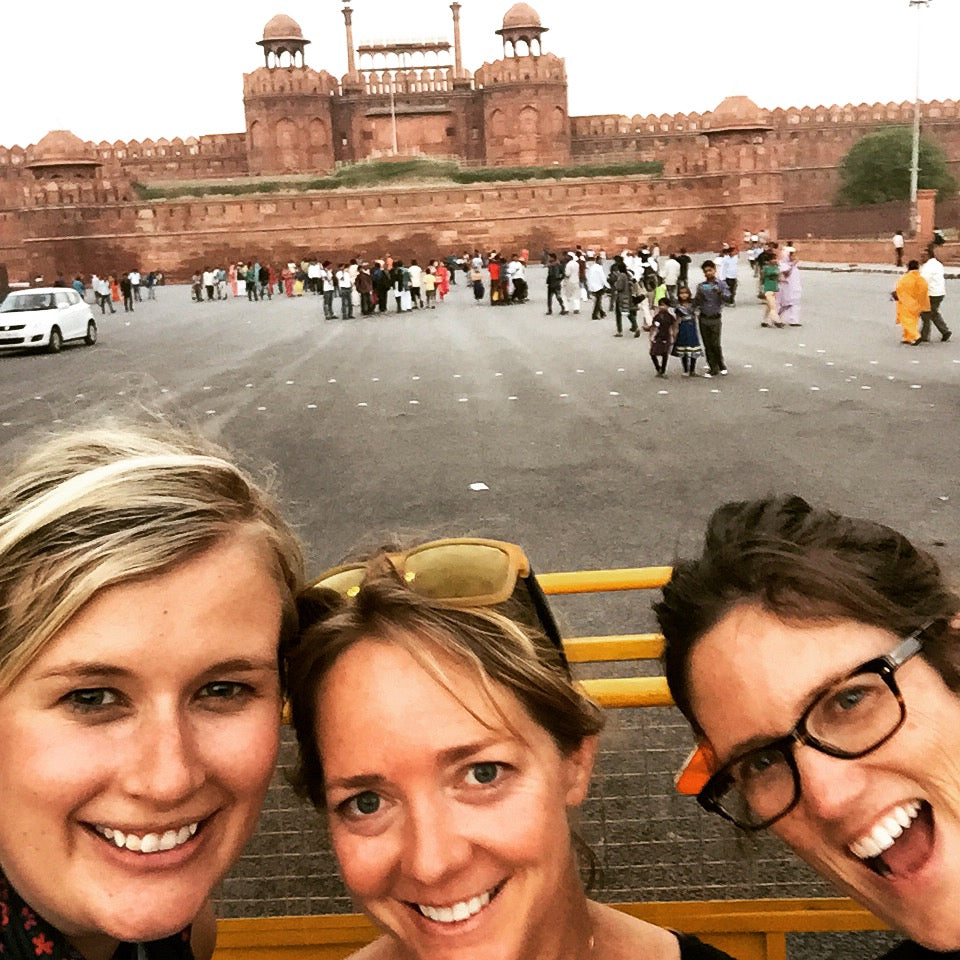 Adrienne, Allison and Patti in India