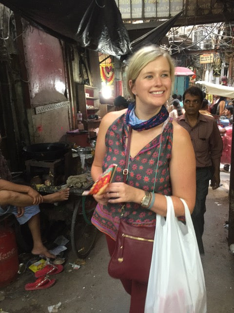 Adrienne in Indian market