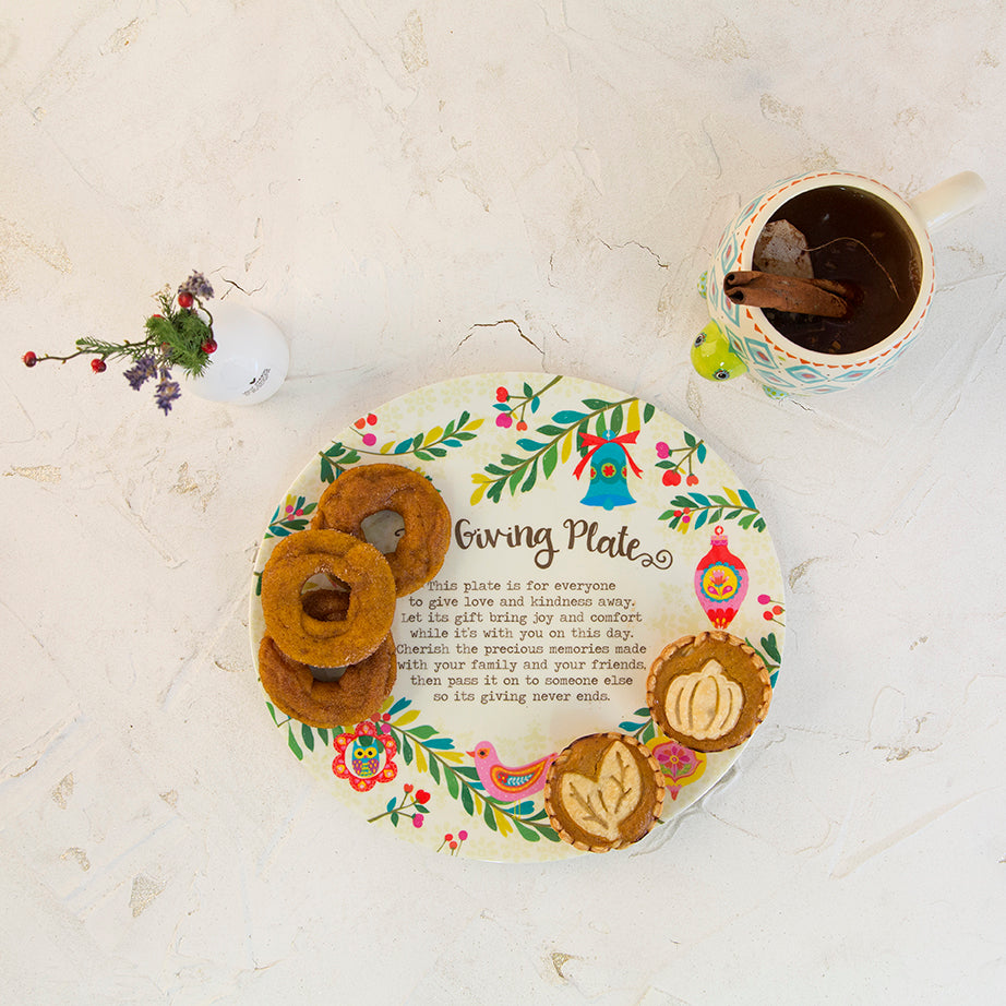 Giving Plate with donuts