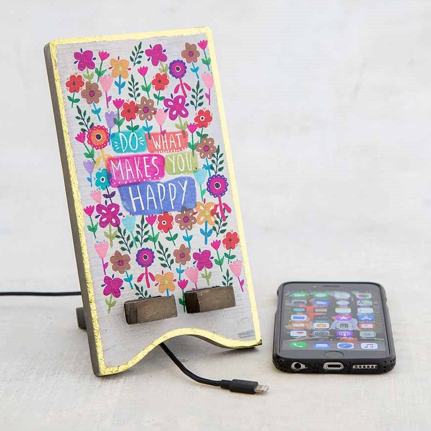 Do more of what makes you happy desk stand for phone