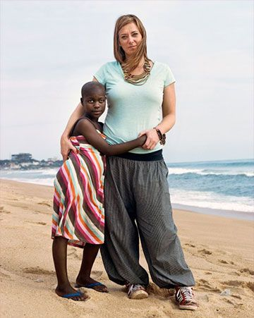 Katie Meyler with a young girl in Africa