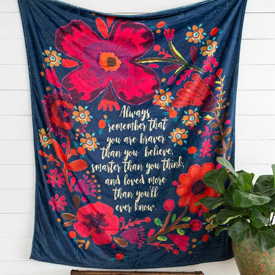 Cozy Blanket with inspiring quote