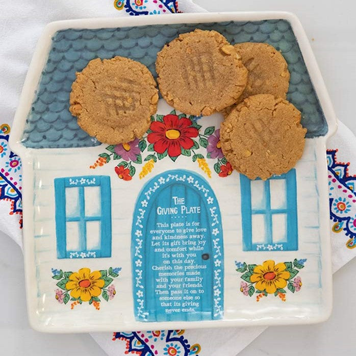 Cottage Giving Plate with Cookies