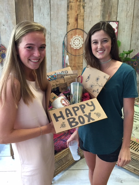 Girls with Happy Box