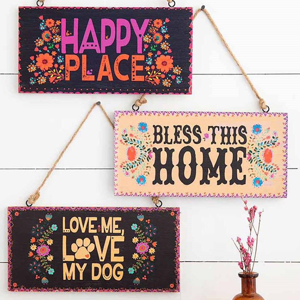 Decorated signs for your wall with cute sentiments