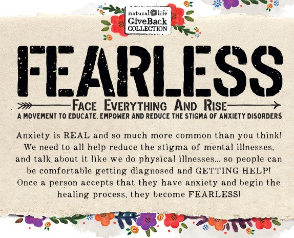 Fearless Collection Graphic with information about anxiety