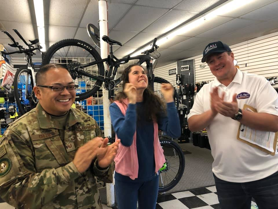 Lanier excited about the bikes that will be donated