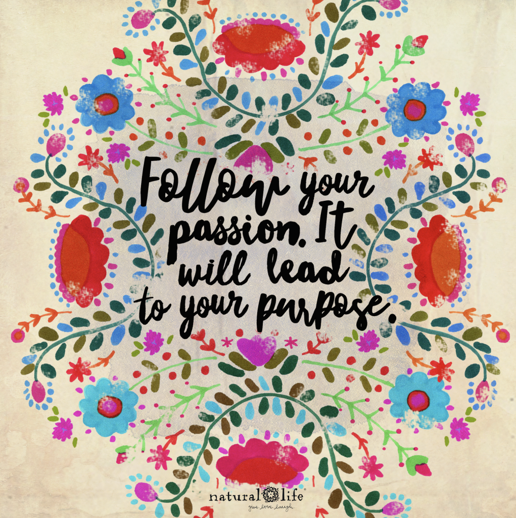 follow your passion, it will lead to your purpose graphic