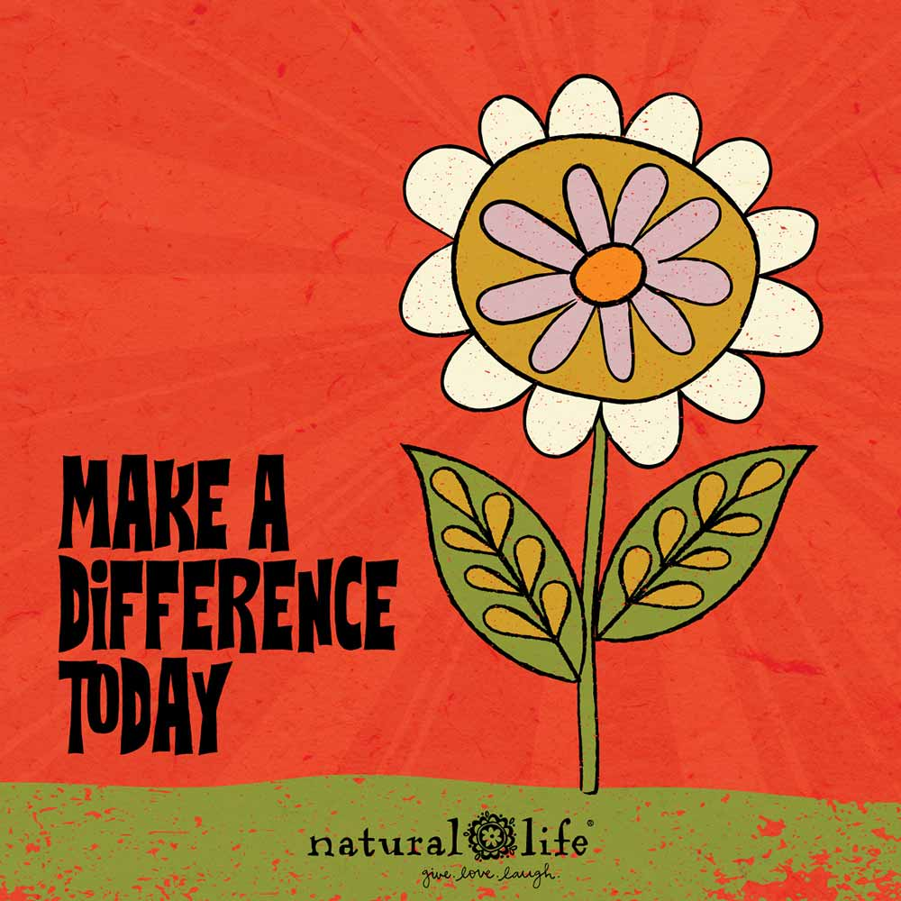 Make a difference today graphic