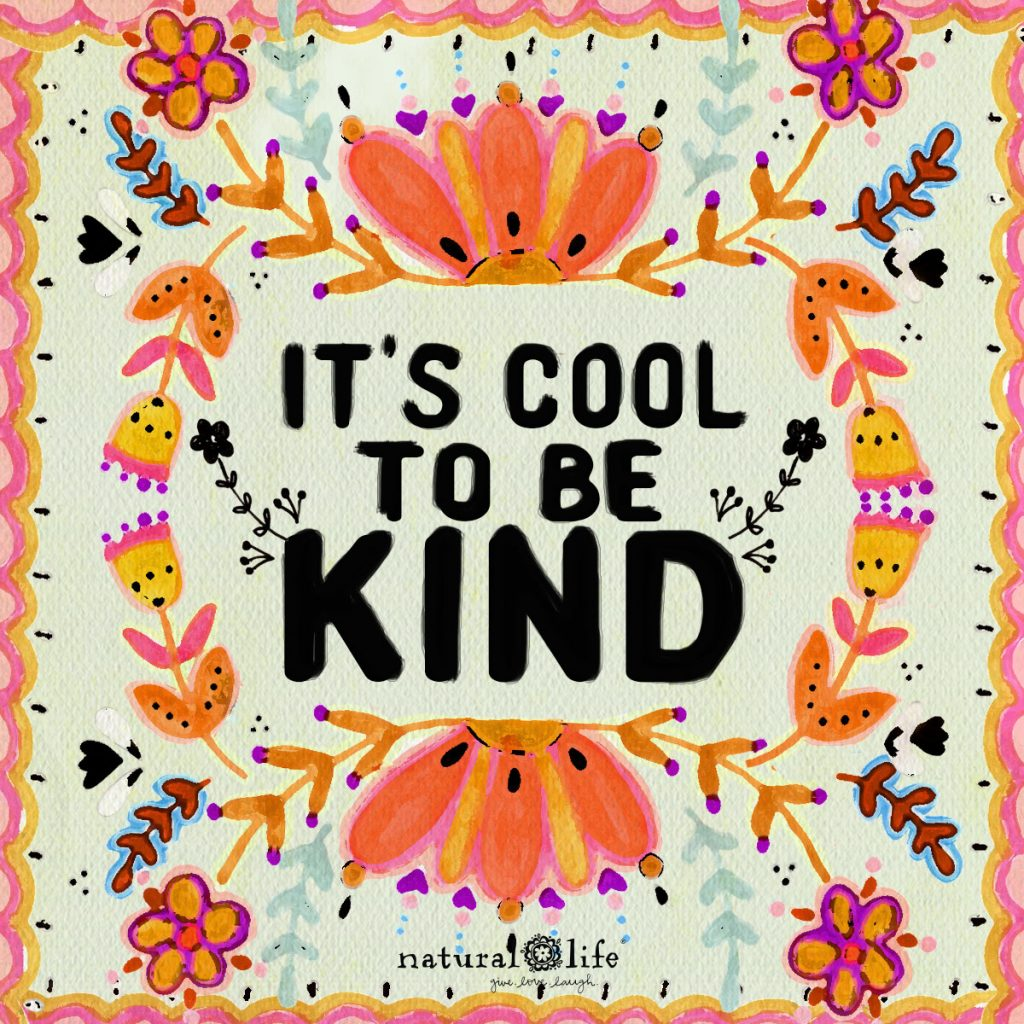 It's Cool To Be Kind sentiment art graphic
