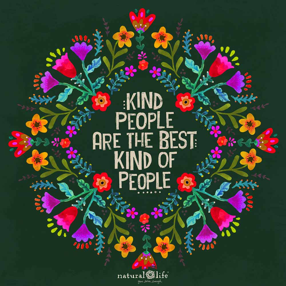 Kind people are the best kind of people art graphic