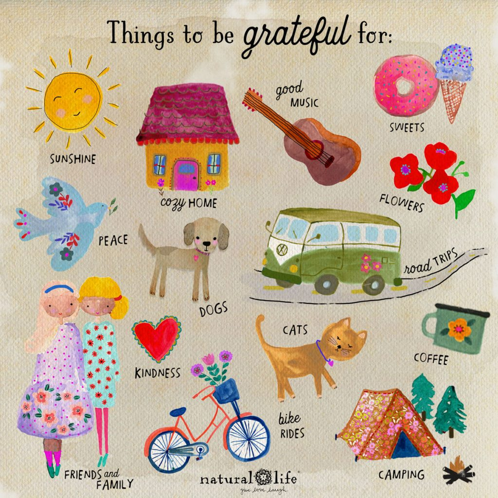 Things to be grateful for graphic