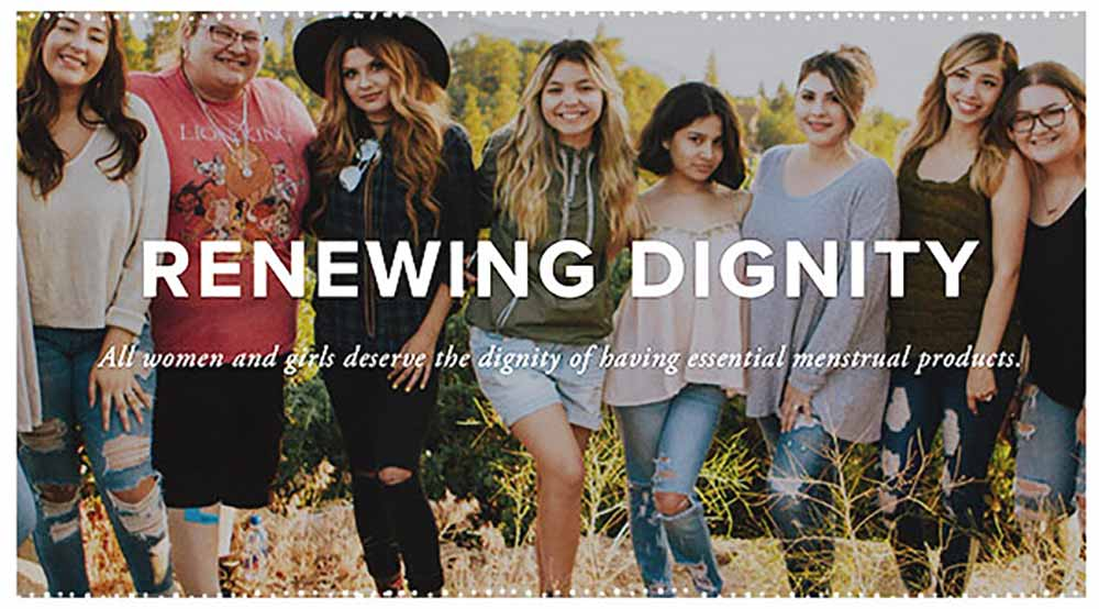 The women of Renewing Dignity! All women deserve the dignity of having essential menstrual Products