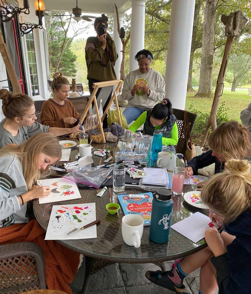 Artist retreat crafts