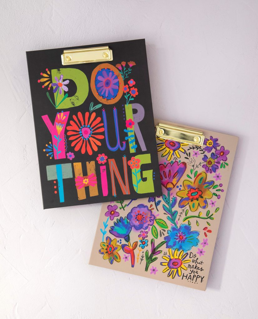 Cute and colorful clip-folios
