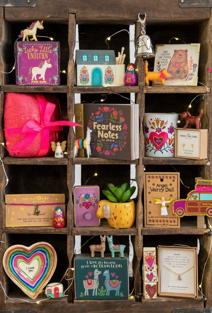 Cubby filled with tiny little treasures and perfect little gifts