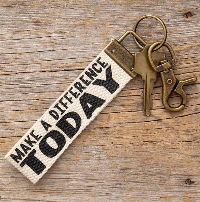 Make a difference today keychain