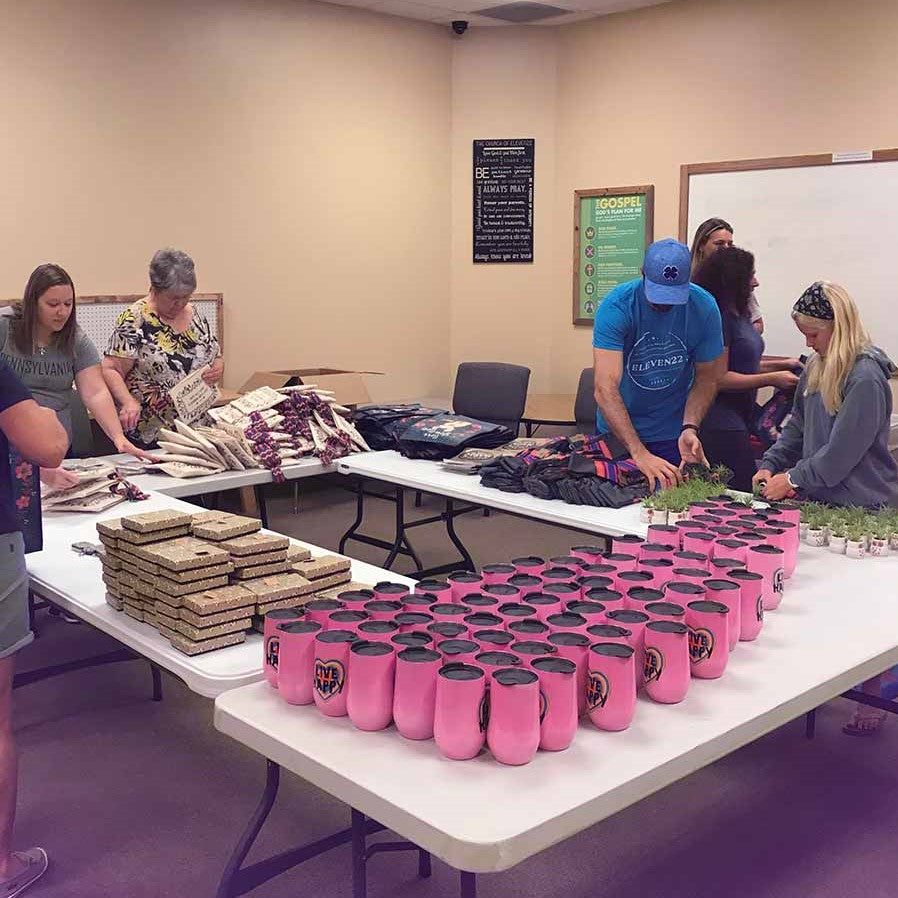 Building blessing bags