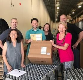First order shipping from new warehouse
