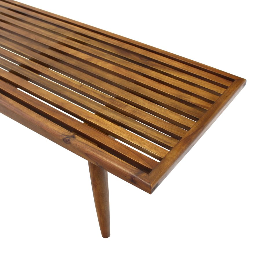 Slat Wood Bench