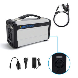 ACOPOWER 220wh Portable Solar Generator