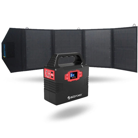 Image of ACOPOWER Solar Generator 150Wh (Kit with 50w Solar)