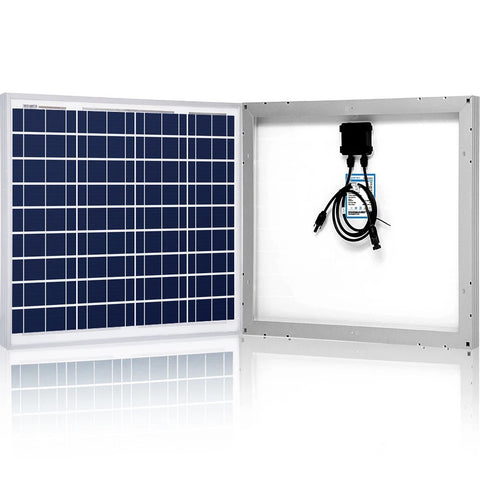 Image of ACOPOWER 50 Watts Poly Solar Panel, 12V