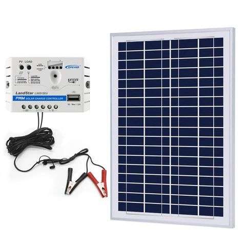 Image of ACOPOWER 25W Off-grid Solar Kits, 5A charge controller with SAE connector