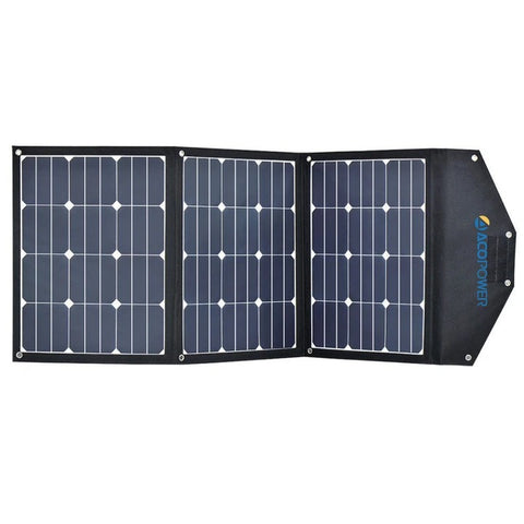 ACOPOWER LiONCooler Combo, X50A Portable Solar Fridge/Freezer (52 Quarts) and 90W Solar Panel