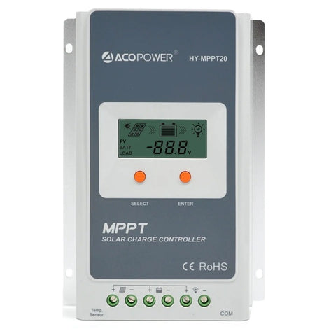 Image of ACOPOWER 100W 12V Mono Solar RV Kits, 20A MPPT Charge Controller