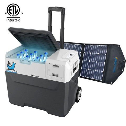 ACOPOWER LiONCooler Combo, X40A Portable Solar Fridge/Freezer (42 Quarts) and 90W Solar Panel