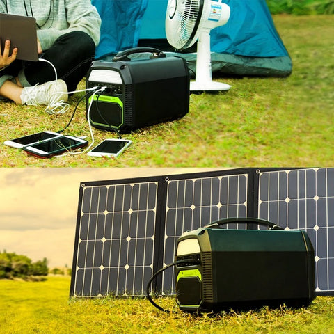 Image of ACOPOWER 500W Generator and 120W Portable Solar Panel