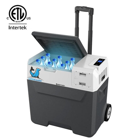 Image of ACOPOWER LionCooler X50A Combo, 52 Quarts Solar Freezer & Extra 173Wh Battery (2 Batteries)