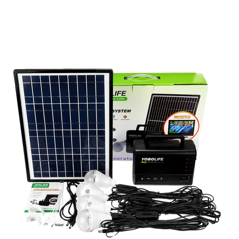 18V LED Light  Solar Panel Power Storage Generator