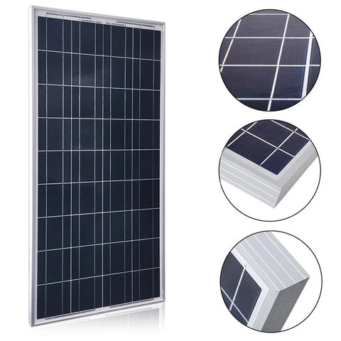 ACOPOWER 100 Watts Poly Solar Panel, 12V