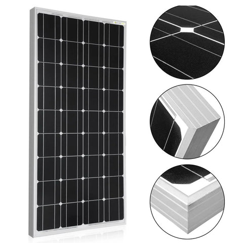 ACOPOWER 100 Watt 12 Volts Monocrystalline Solar Panel