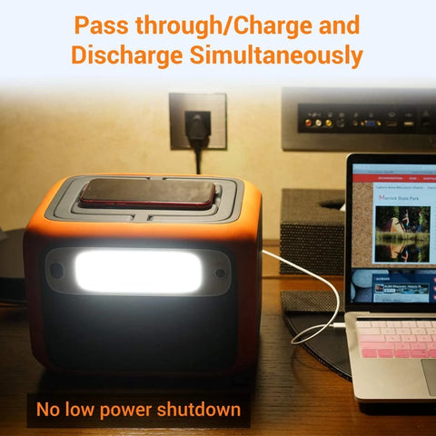 Image of ACOPOWER Power Station 500Wh Solar Generator Wireless Charging Battery Backup for Outdoor & Emergency (New Arrival )