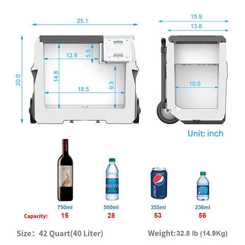 Image of ACOPOWER LionCooler X40A Portable Solar Fridge Freezer, 42 Quarts (New Model)