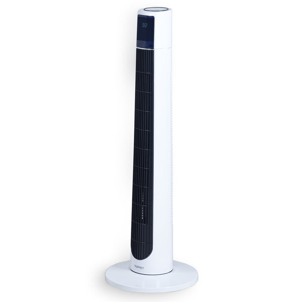 KUPPET 38 inch Bladeless Oscillating Fan with Remote Control and LED Display Eco Function 3 Wind Modes 3 Speed 12H Timer
