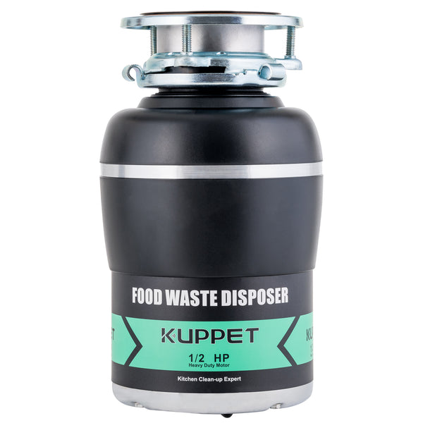 KUPPET Garbage Disposal with Power Cord, 1/2 HP, 38 OZ Chamber Capacity