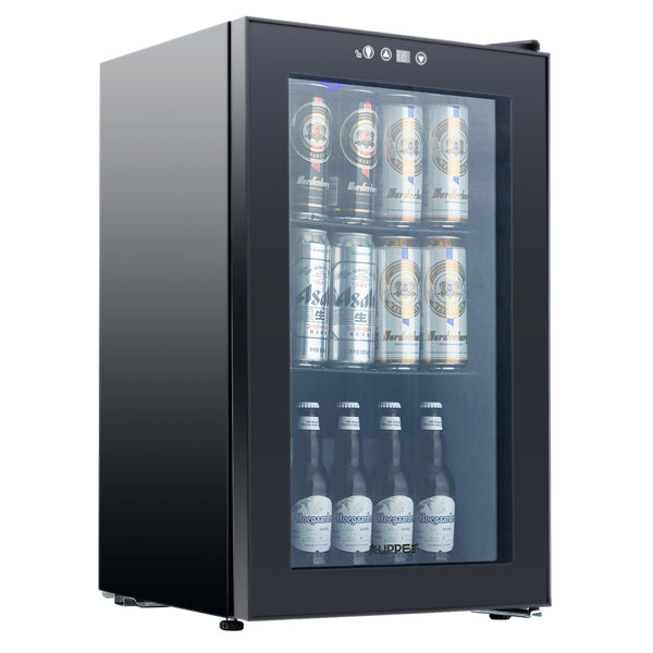 80-Can Beverage Cooler,Mini Fridge for Home, Office or Bar with Glass Door and Adjustable Removable Shelves,Perfect for Soda Beer or Wine,2.3 Cu.Ft.