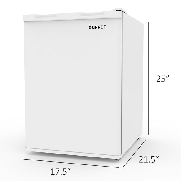 KUPPET Upright Freezer, Compact Reversible Single Door Table Top Mini Freezers for Ice Cream/Breast Milk/Sea Food, Adjustable Removable Shelves, 2.1CU.FT (White)