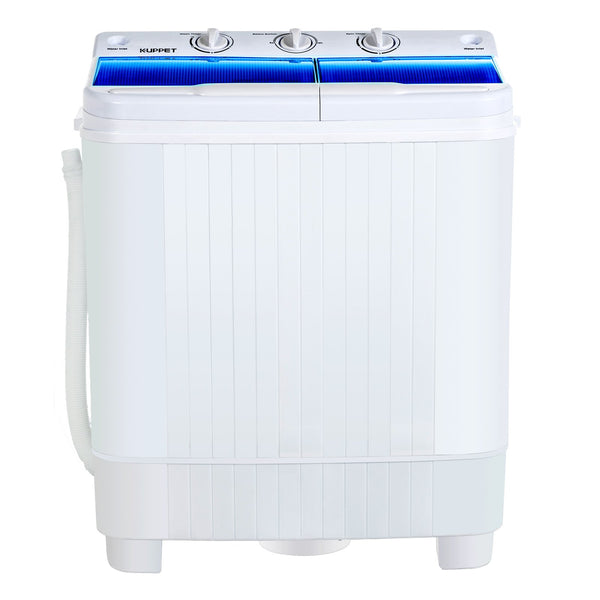KUPPET Portable Washing Machine, 17lbs Compact Twin Tub Washer and Spin Dryer Combo for Apartment, Dorms, RVs, Camping