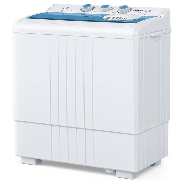 KUPPET Compact Twin Tub Portable Mini Washing Machine 21lbs Capacity, Washer(14.4lbs)&Spiner(6.6lbs)