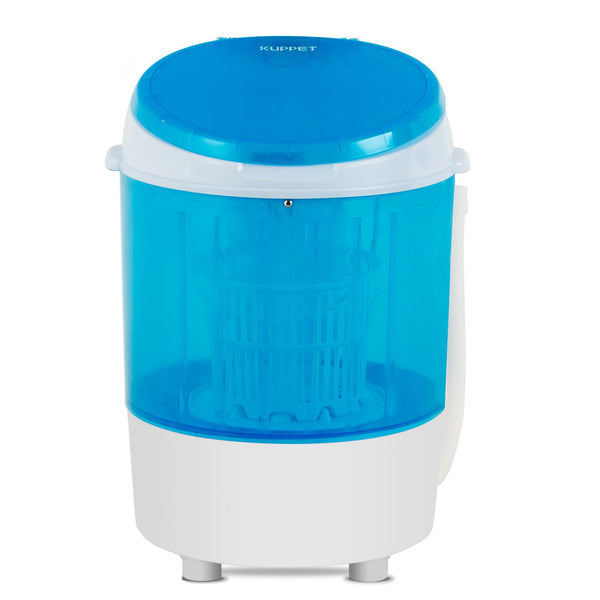 KUPPET 2020 Compact Laundry, 11lbs Capacity, Small Semi-Automatic Compact Washer with Timer Control Single Translucent Tub