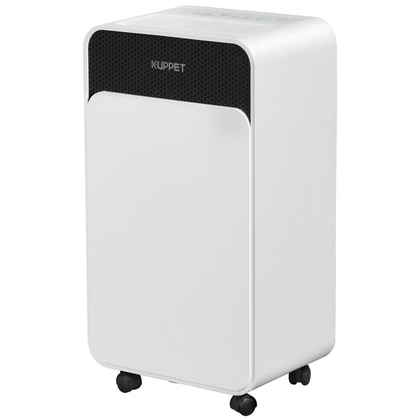 KUPPET 30 Pints Dehumidifier for up to 1500 Sq. Ft with Dry Clothes Function for Home with Water Tank