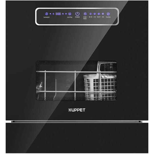 KUPPET Built-in Dishwasher, Dishwasher with 8 Place Setting, 4 One-Botton Control Washing Programme and LED Display