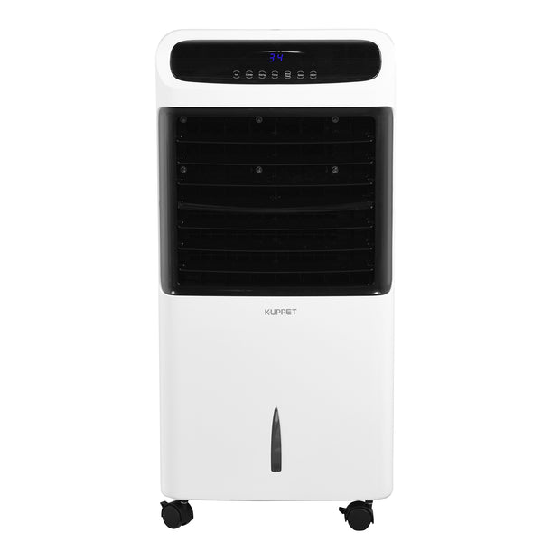 KUPPET Evaporative Air Cooler/Heater Fan Portable Air Cooling/Heater Fan Cooler/Humidify/Purify/Heater Function with Remote Control and LED Display